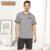 Qianxiu Marca Pijama De Malha Modal Sleepwear O-pescoço Sleepwear conjuntos de Pijama Dos Homens