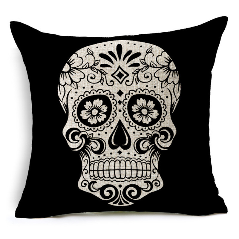 Customized Skull Ocean Cushion Pillow Covers  5