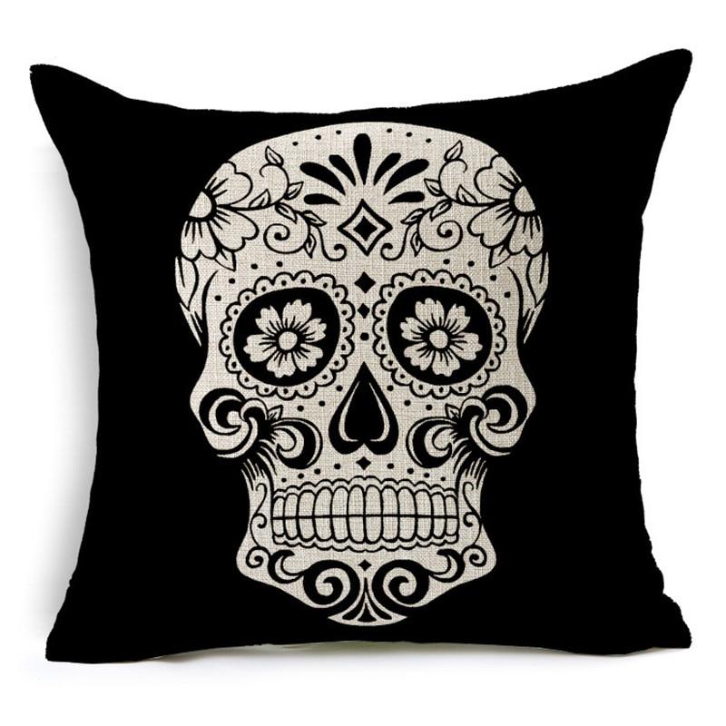 Customized Skull Ocean Cushion Pillow Covers  5