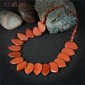 KCALOE Grande Gold Sand Stone Collares Vintage Accesorios Hipérbole Piedras Naturales Hechos A Mano Declaración Collar Joyería de Las Mujeres