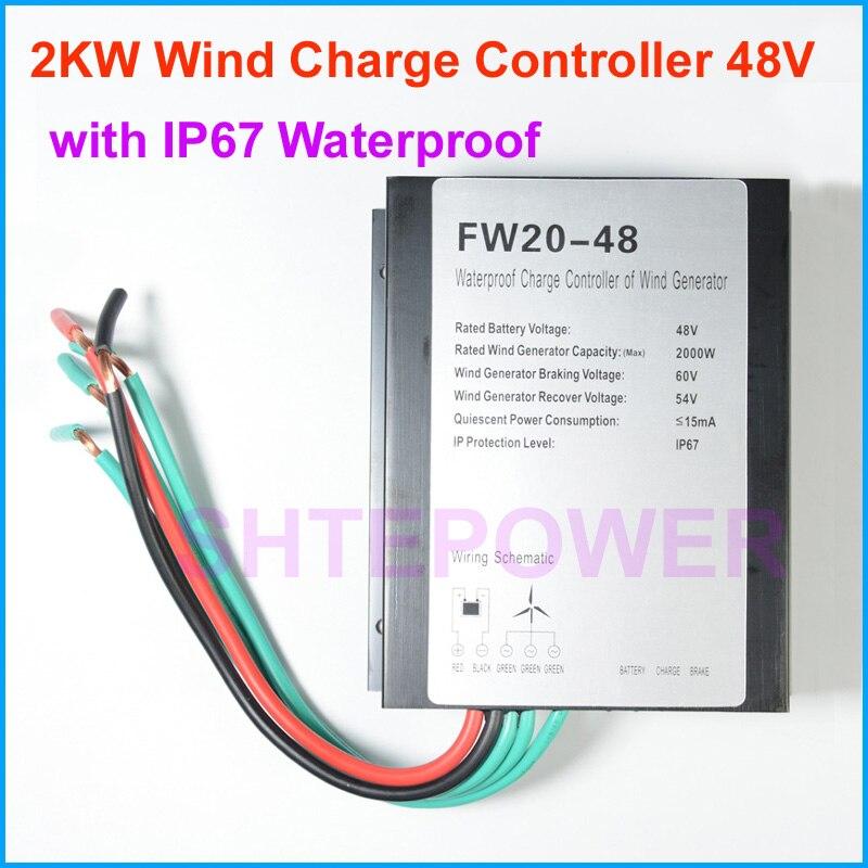 2kw 2000w wind generator charge controller regulator 48v type with IP67 waterproof function 1KW 1000W экспериментальная электропечь tianjin delisi 1kw 2kw