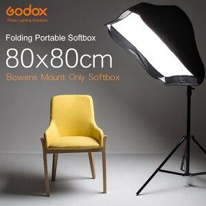 "Image 2 - Godox 80x80 cm 31,5 ""x 31,5"" Folding Tragbare Bowens Berg Softbox Studio Strobe Flash Foto Reflektierende softbox Diffusor"