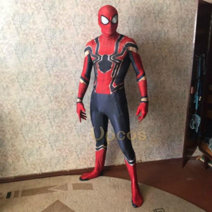 Оптовая продажа 2018 Человек-паук костюм Человек-паук выпускников Косплэй костюм том Холланд Железный Человек-паук костюм disfraz