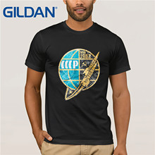 Gildan Brand Russia CCCP Vostok 1962 Space Exploration Program T-Shirt Summer Mens Short Sleeve