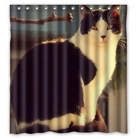 Leuke Grumpy Kat Aangepaste 160x180 cm Waterdicht Douchegordijn ...
