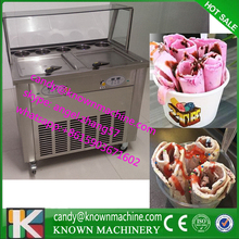 Commercial Ice Fried Machine Double Pan Ice cream Frying Machine