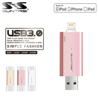 Suntrsi USB Flash Drive OTG Pen Drive USB 3.0 128GB 64GB 32GB Pendrive High Speed 80m/s Customized LOGO USB Flash Drive Freeship