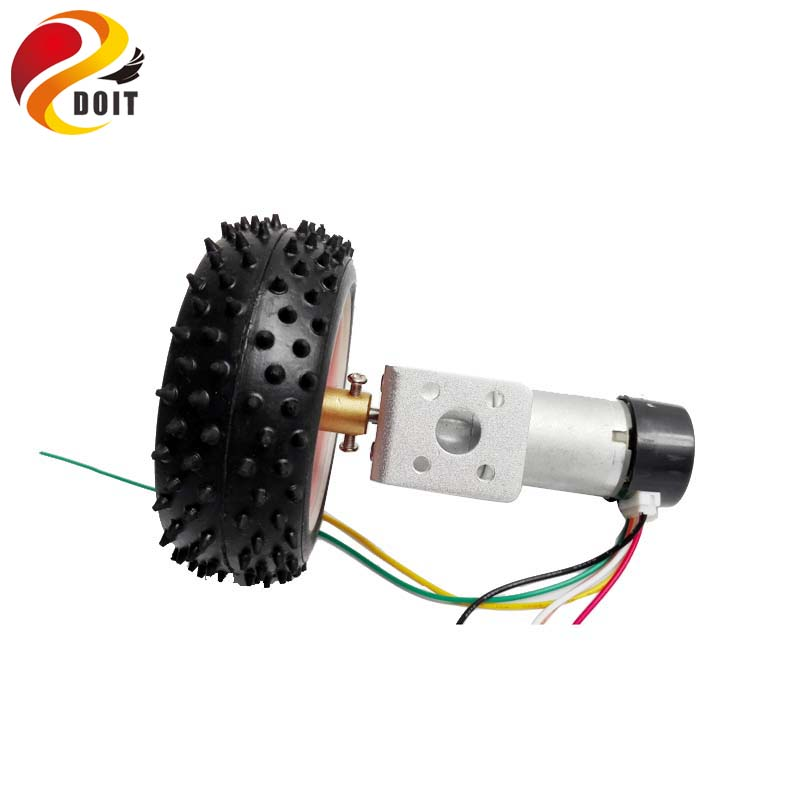 DOIT One Set Accessory for Robot Car Chassis with 85mm Wheel Width 31mm, 25mm Motor, Copper Coupling, Motor Bracket, Screw