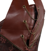 Steampunk Corset brown/black Faux Leather