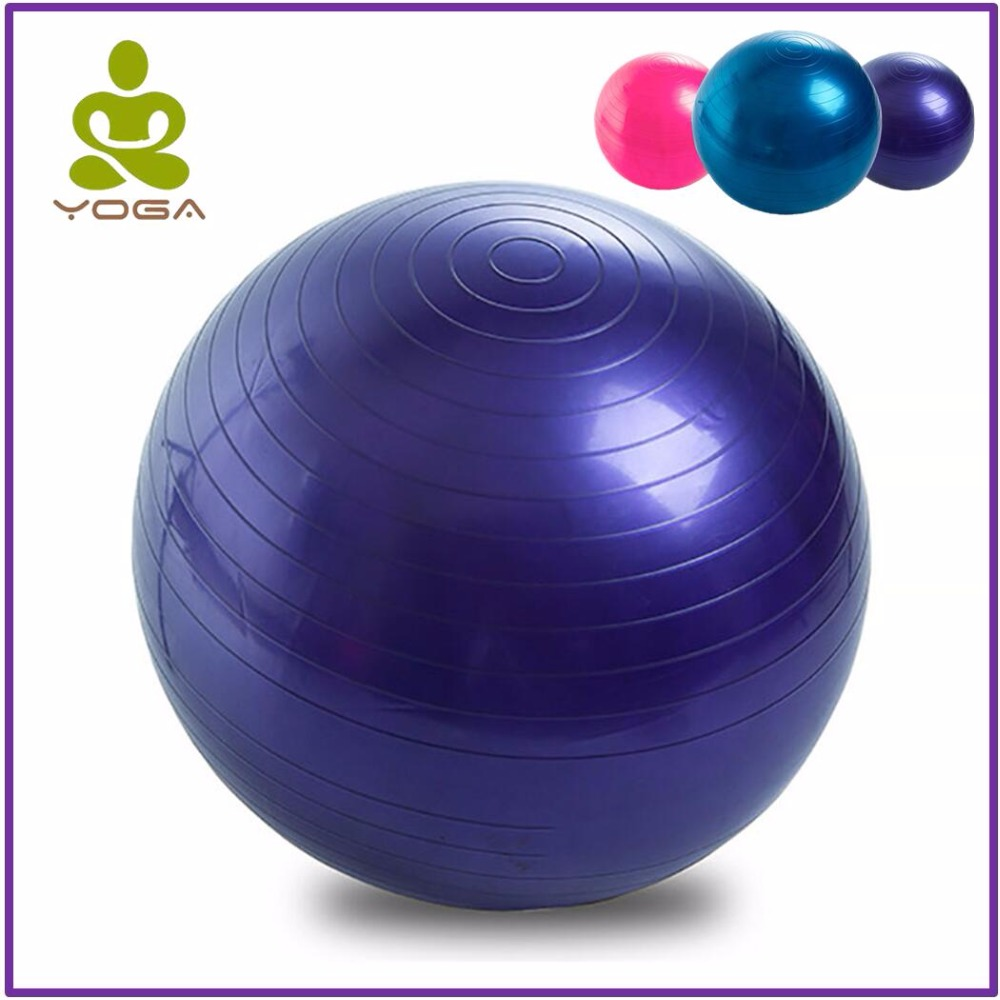 55cm High Quality Yoga Balls Bola Pilates Sports Fitness Gym Balance Fitball Exercise Pilates Workout Massage Ball