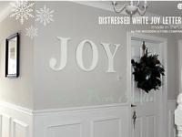 JOY Wall Letters, Distressed White.wedding decoration letters