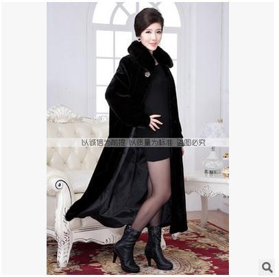 Fourrure Coelho Pele Casacos Casaco De Veste Faux Femelle Manteaux J1372 Vison Femmes Casual Black Longue Grande Taille Noir wqO7gn6Zt