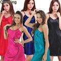 RB023 Verão estilo Plus Size Rayon Mulheres Roupão Quimono de Cetim de Seda Longo Robe Sexy Lingerie Hot Pijamas