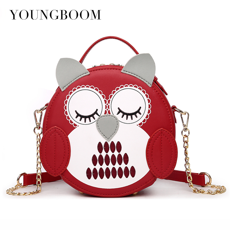 Youngboom Women Owl Pattern Bags Shoulder Bags 2017 New Small Crossbody Bag Brands Designers Ladies Messenger Bags Bolso Mujer feral cat ladies hand bags pvc crossbody bags for women single trapeze shoulder bag dames tassen handbag bolso mujer handtassen