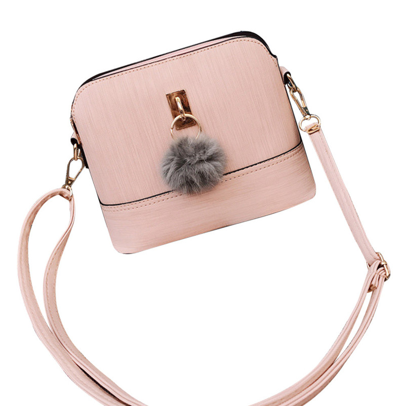 Womens Crossbody Bag Fashion Plush Ball Messenger Leisure Bags Crossbody Shoulder Bags Female Ladies Hand Bag Bolsa A8