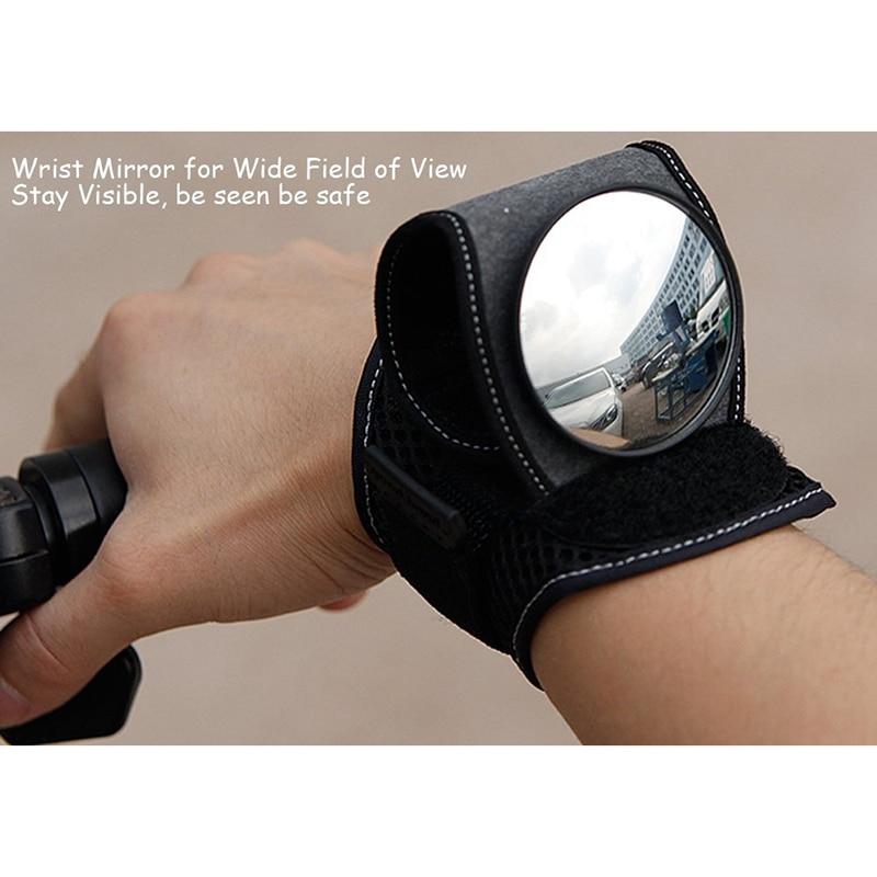 Bicycle Mirrors Bicycle Wrist Mirror Rearview Wristband Motorbike Handlebar Reflector Wristband Mirror Riding Equipment