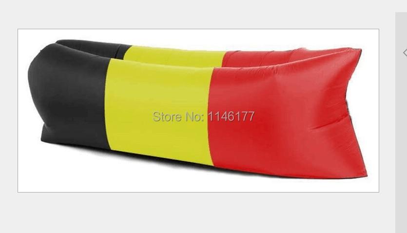 ФОТО Beach air sleeping bag black red yellow and green sofa Enhanced camping sleeping bag fast charge