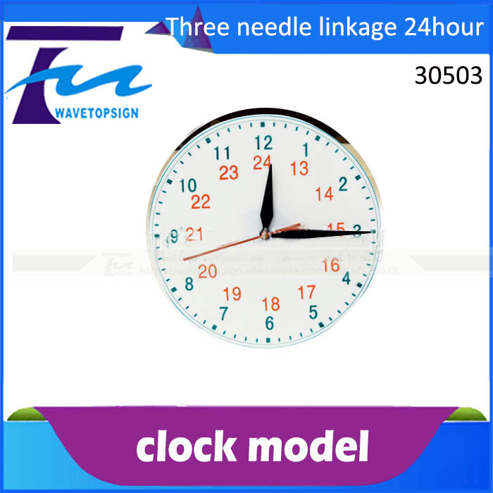 demonstration purposes Clock face model primary school science three - pin linkage 24 - hour system clock table model teacher demonstration with primary school mathematics science and education equipment three needle linkage