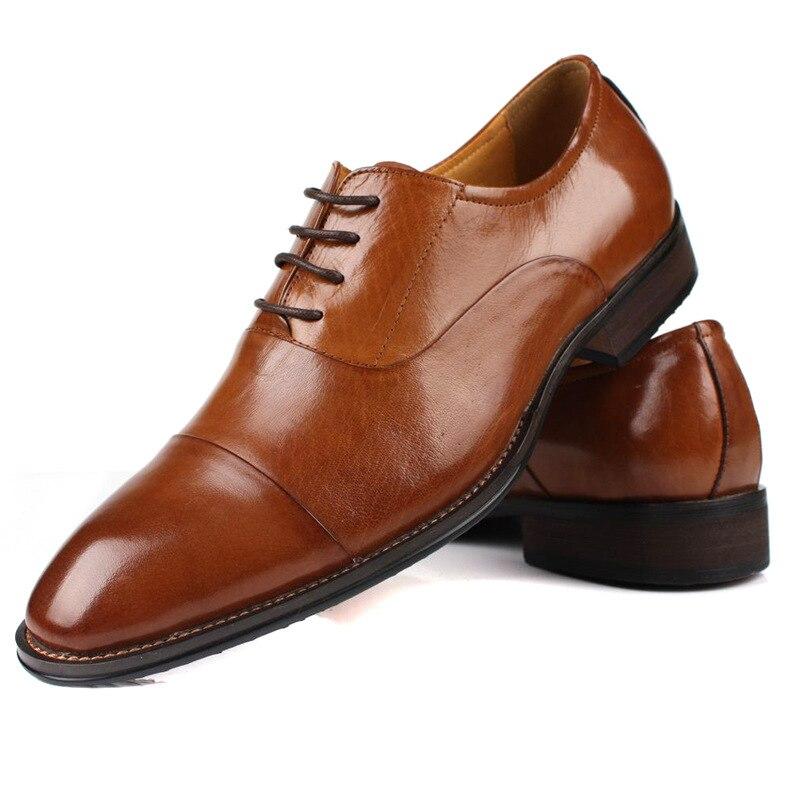 gran selección de 5f736 90395 Hombre vestido del negocio del cuero zapatos de cuero ...