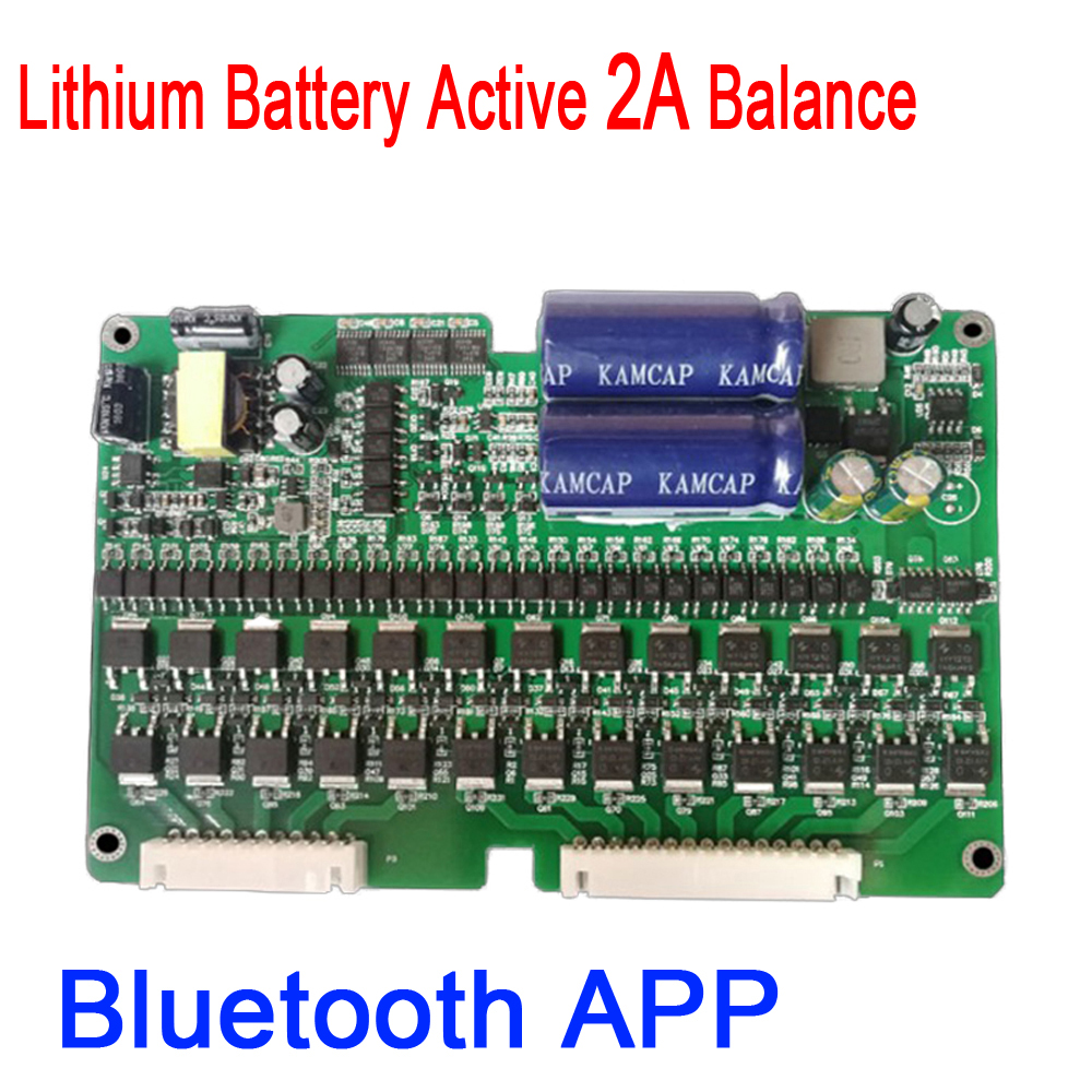 2S 24S 2A eBike Bluetooth APP Lithium Battery Active Equalizer Balance BMS Li ion Lipo Lifepo4