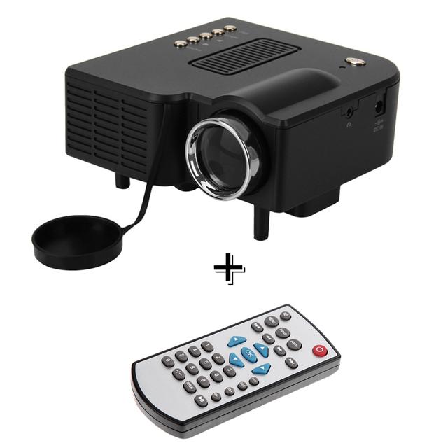 Portátil Mini Proyector Multimedia Cine Teatro PC y Portátil LED Proyector VGA/USB/SD/AV/HDMI proyector + Mando A Distancia Original
