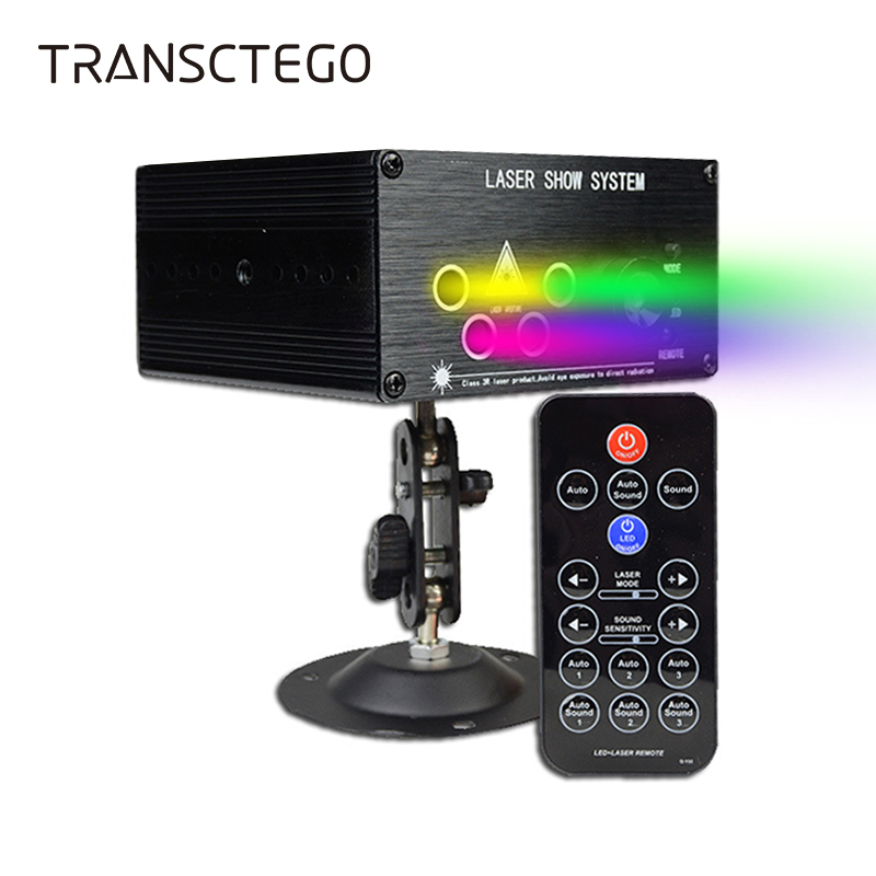 Laser Light 120 Patterns LED Projector DJ Stage Lighting For Family Party Club Red Green Auto Sound Active Lamp Disco Lights