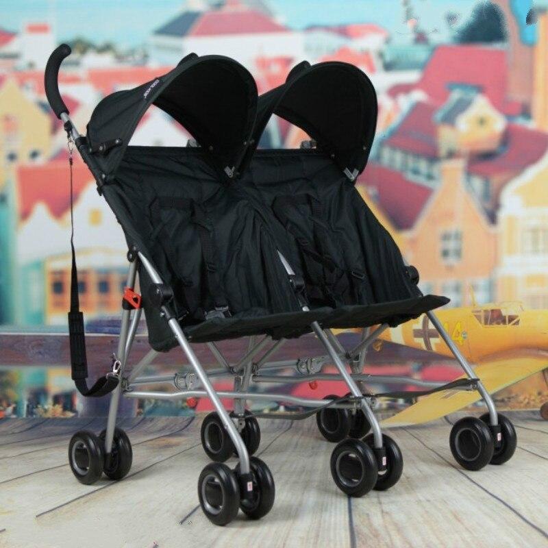 Infants font b double b font font b stroller b font car lightweight portable cart the