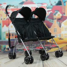 Infants double stroller car lightweight portable cart the twin baby stroller