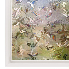 Funlife Frosted Window Film Vinyl Decorative Self-adhesive Anti-UV Sticker Leaf Static Cling Privacy Glass