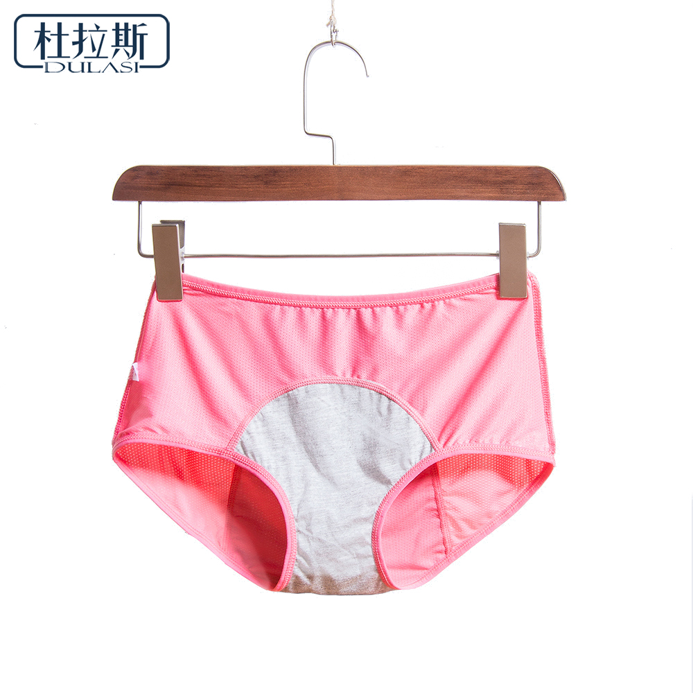 Women Breathable Physiological Panties Sexy Menstrual Leak Proof Underwear Women Mid Waist Warm Healthy For Girls Briefs DULASI
