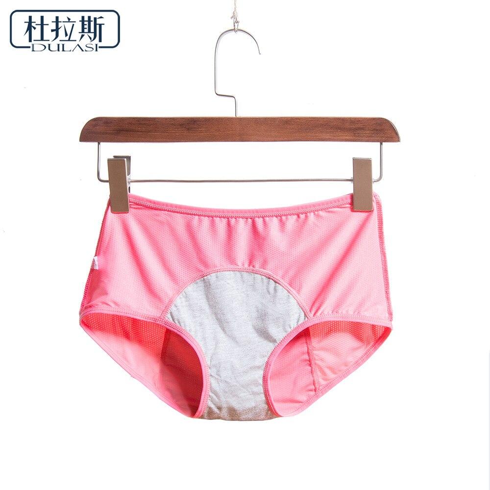 Women Breathable Physiological Panties Sexy Menstrual Leak Proof Underwear Women Mid Waist Warm Healthy For Girls Briefs DULASI