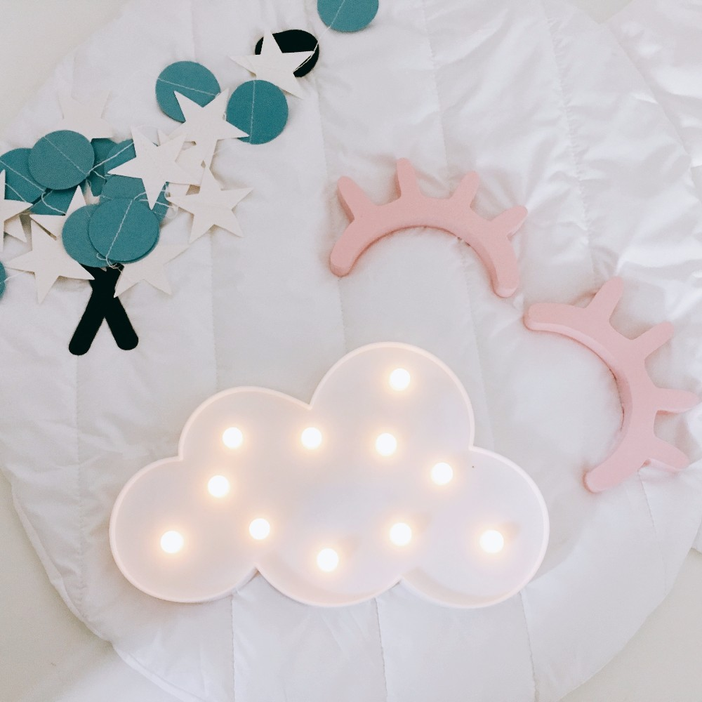 3D Marquee Cloud Night Lamp Luminaria Battery Operated Letter Light For Baby Room Decoration Kid's Gift Ornaments Nightlight led night light moon cloud lamp novelty luminaria star nightlight home atmosphere decor night lamp for kid gift decoration