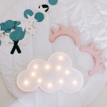 3D Marquee Cloud Night Lamp Luminaria Battery Operated Letter Light For Baby Room Decoration Kid's Gift Ornaments Nightlight