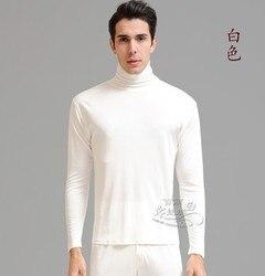 100% ropa interior de seda sin forro con cuello alto de seda gruesa para hombre