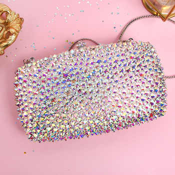 evening bags crystal hand bag luxury banquet symphony full diamond female models small bag 2017 new female mini Bag day clutches - Category 🛒 Luggage & Bags