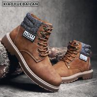 2018 New Winter Boots Martin Men Leather Shoes Fashion Classic 7.28