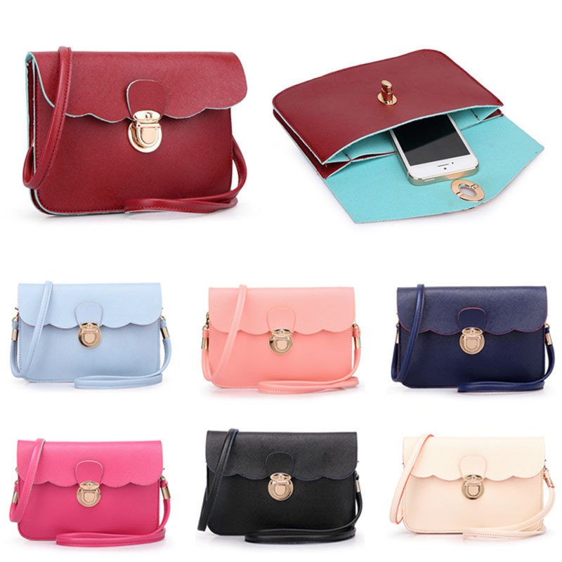 Womens Leather Shoulder Bag Clutch Handbag Tote Purse Hobo Messenger For Daily Shopping All-Purpose#YL