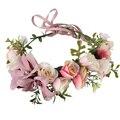 Novia de la boda guirnalda de la flor del tocado de la joyería Kid party guirnaldas florales Dama de Honor joyería accesorios para el cabello diadema fotografía
