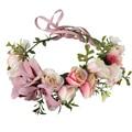 Wedding bride flower wreath headdress jewelry Kid party floral garlands Bridesmaid headband photography jewelry hair accessories
