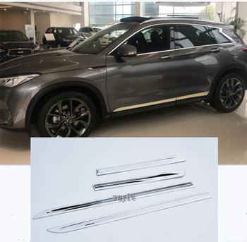 Door Side Body Garnish Molding Cover Trim For Infiniti QX50 2018  2019 Exterior Decor Strip Car Styling Accessories