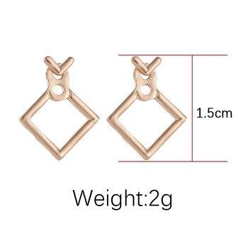 Hot Sale Trendy Cute Nickel Free Square Stud Earrings For Women Brincos Brinco Oorbellen 1
