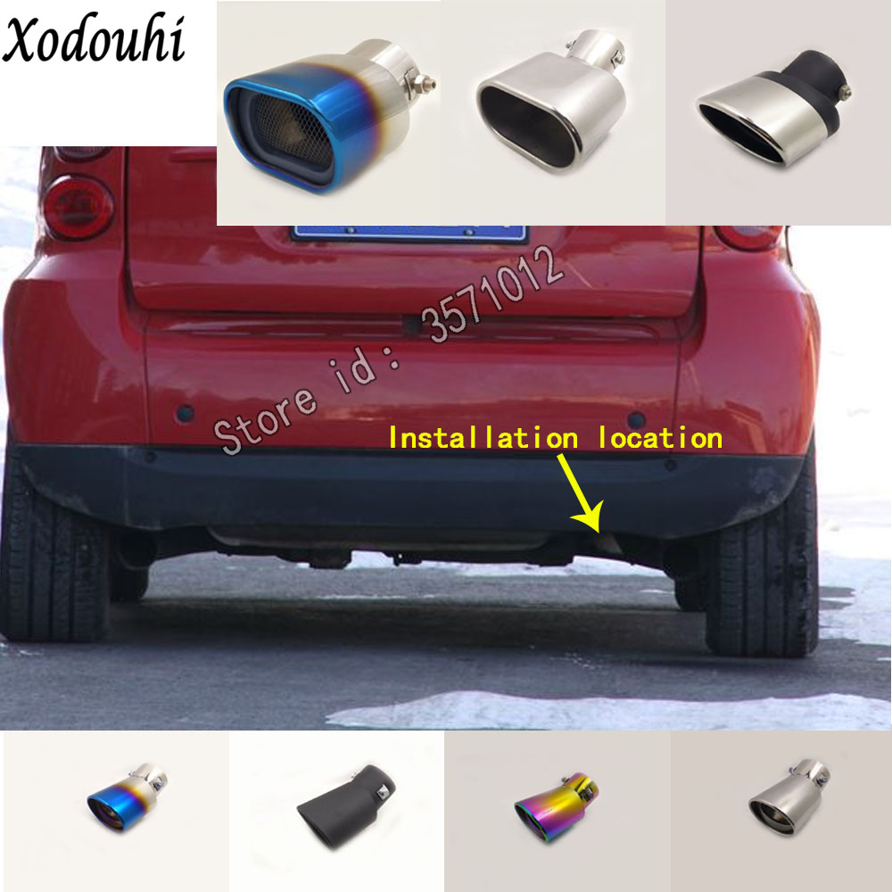for benz smart fortwo 2009 2010 2011 car muffler exterior end pipe dedicate stainless steel exhaust tip tail outlet ornament