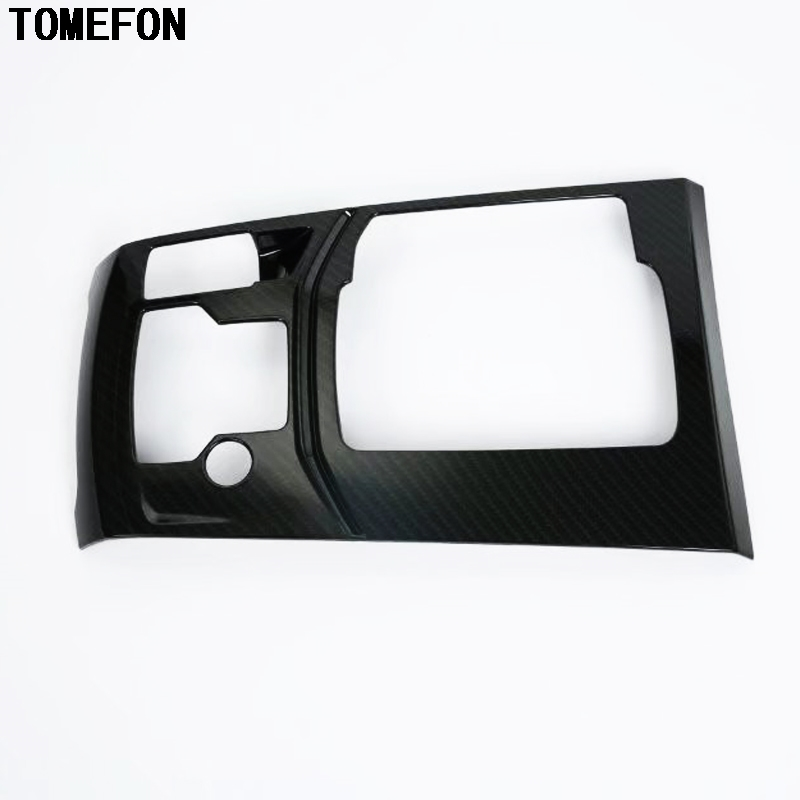 TOMEFON ABS Carbon Fiber For Mazda CX-5 CX5 2017 2018 LHD Gear Box Electronic Handbrake Panel Cover Interior Styling Accessories abs carbon style decoration gear shift box panel cover trim car styling accessories for mazda cx 5 cx5 2nd gen 2017 2018