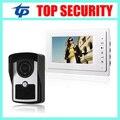 """IP64 водонепроницаемый 7 """"цветной экран TFT видео-телефон двери система ИК ночного версия камеры доступа двери видео домофон проводной дверной звонок"""