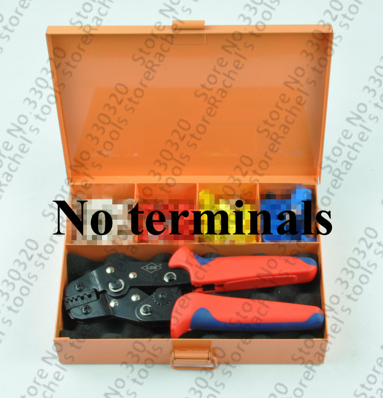 crimping tool kits set with metal box and hand crimping pliers for crimp cable ferrules 0 5 6mm2. Black Bedroom Furniture Sets. Home Design Ideas