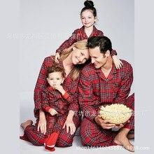ecc3d9322d742 Famille noël Pyjamas rouge Plaid maison porter maman et moi vêtements père  fils chemises + pantalons Parent enfant enfants bébé .
