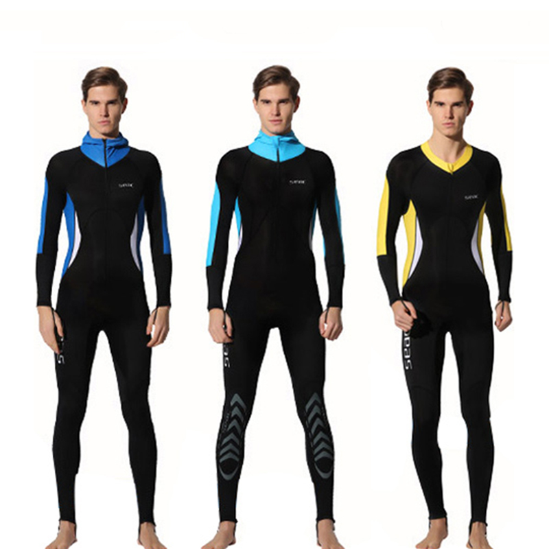Hisea Men UV Protection Diving Suit Full Body Long Sleeve Wetsuit Lycra Jellyfish Swimsuit Snorkeling Spearfishing 3 Style
