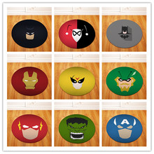 Super hero Round Tapete For Living Room Bedroom Home Decor Carpet Rug Children Kids Soft Play Mat(China)
