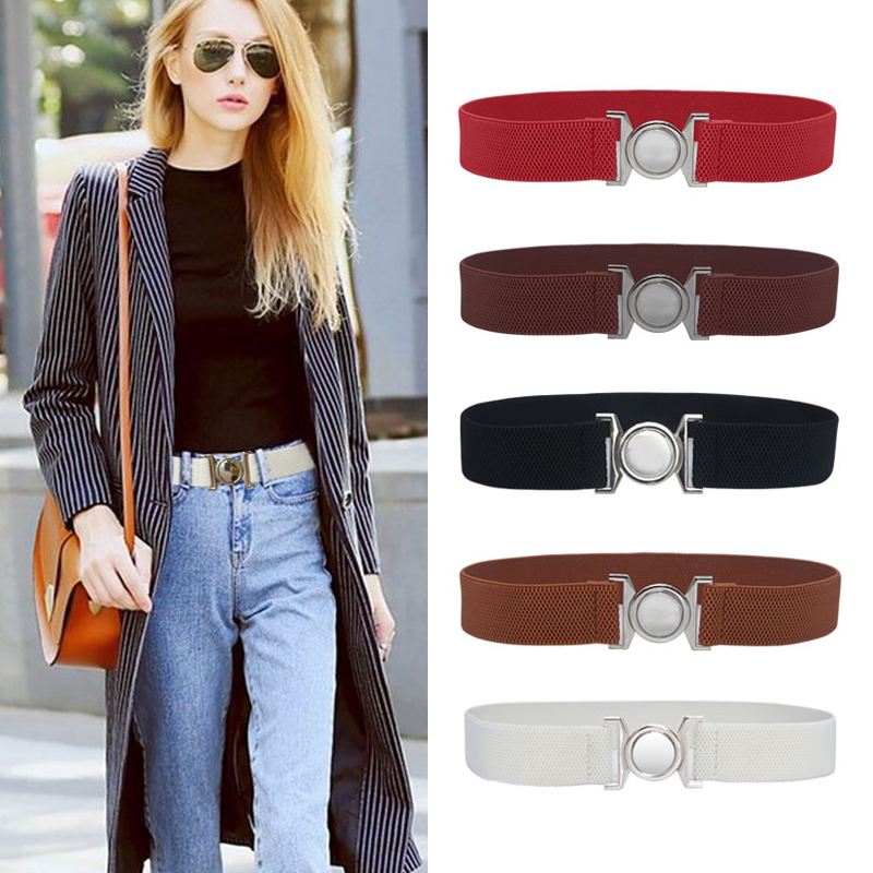 Seabigtoo high waist belt women Thin Ladies Belts For Dresses elastic waist belts female high quality stretch cinch waist band belt