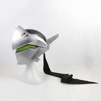 Со светом! FRP тип шлем Гэндзи Шимада Косплей Гэндзи шлем Genji маска для костюмы интимные аксессуары Головные уборы без батарея